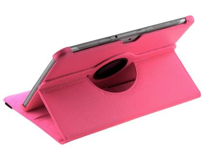 Samsung Galaxy Tab 10.1 VELOCITY Synthetic Leather 360° Swivel Flip Case - Pink