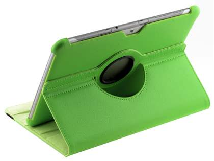 Samsung Galaxy Tab 10.1 VELOCITY Synthetic Leather 360° Swivel Flip Case - Green