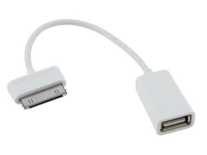 30 pin-USB OTG Adaptor Cable for Samsung - White