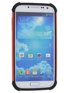 Samsung Galaxy S4 I9500 Impact Case - Red/Classic Black