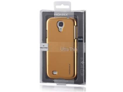 MOMAX Ultra-Thin Metallic Case for Samsung I9500 Galaxy S4 - Metallic Dark Blue