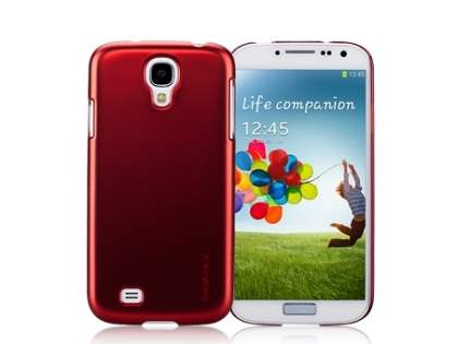 MOMAX Ultra-Thin Metallic Case for Samsung I9500 Galaxy S4 - Metallic Red
