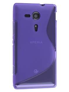 Wave Case for Sony Xperia SP M35 - Frosted Purple/Purple Soft Cover