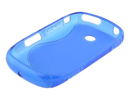 Wave Case for Samsung Galaxy Music S6010 - Frosted Blue/Blue