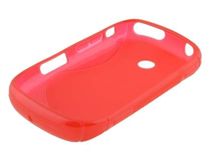Samsung Galaxy Music S6010 Wave Case - Frosted Red/Red