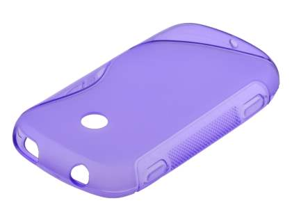 Wave Case for Samsung Galaxy Music S6010 - Frosted Purple/Purple Soft Cover