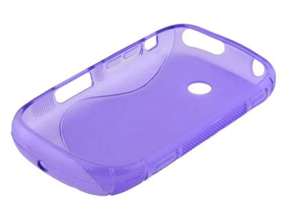 Samsung Galaxy Music S6010 Wave Case - Frosted Purple/Purple