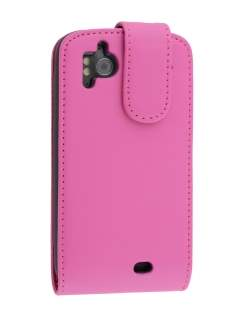 Synthetic Leather Flip Case for HTC Sensation - Pink Leather Flip Case
