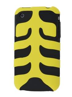 Two Piece Back Case for iPhone 3G/3GS - Yellow/Black