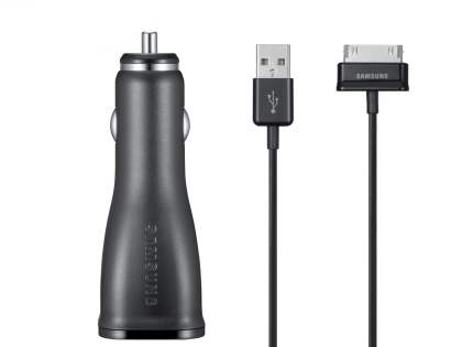Genuine Samsung 2000mA Car Charger with USB Port & Tab Data Cable - Car Charger