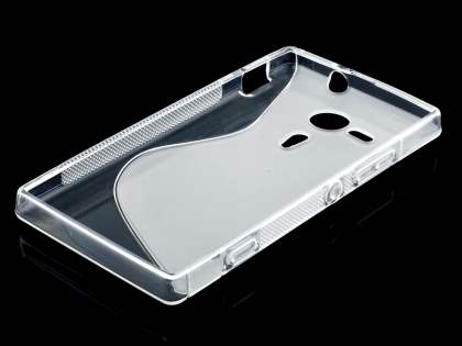 Wave Case for Sony Xperia SP M35 - Frosted Clear/Clear