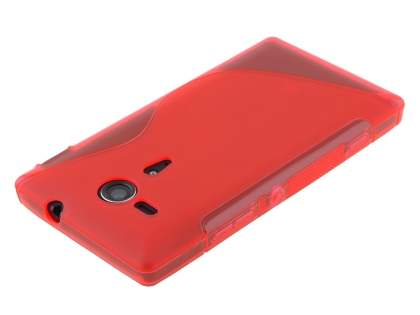 Sony Xperia SP M35 Wave Case - Frosted Red/Red