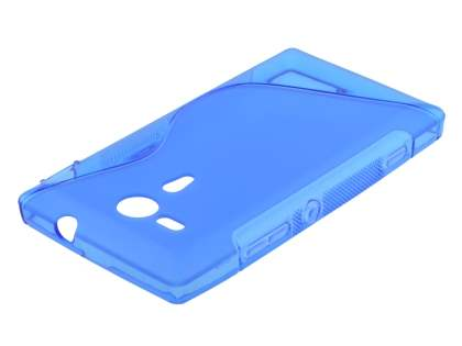 Sony Xperia SP M35 Wave Case - Frosted Blue/Blue
