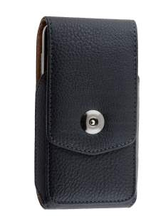 Textured Synthetic Leather Vertical Belt Pouch for Samsung - Belt Pouch