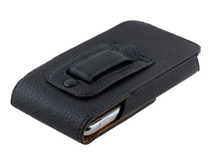 Textured Synthetic Leather Vertical Belt Pouch for Samsung