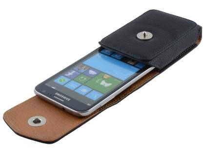 Textured Synthetic Leather Vertical Belt Pouch for Samsung Ativ S I8750