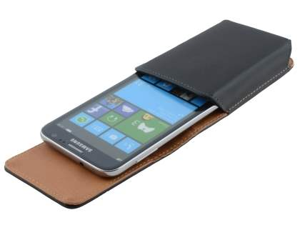 Smooth Synthetic Leather Vertical Belt Pouch for Samsung
