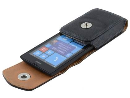 Textured Synthetic Leather Vertical Belt Pouch for Nokia Lumia 520