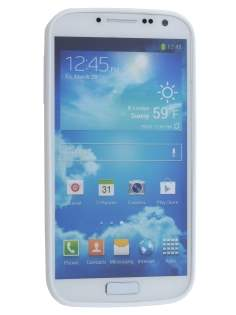 Samsung Galaxy S4 I9500 Dual-Design Case - White/Frosted Clear