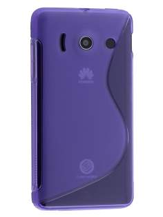 Wave Case for Huawei Ascend Y300 - Frosted Purple/Purple Soft Cover