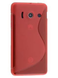 Wave Case for Huawei Ascend Y300 - Frosted Red/Red Soft Cover