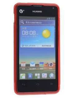 Wave Case for Huawei Ascend Y300 - Frosted Red/Red