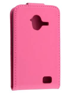 Synthetic Leather Flip Case for ZTE Telstra Frontier 4G - Hot Pink Leather Flip Case