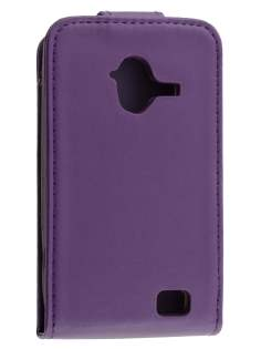 Synthetic Leather Flip Case for ZTE Telstra Frontier 4G - Purple Leather Flip Case