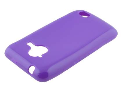Frosted Colour TPU Gel Case for ZTE Telstra Frontier 4G - Purple Soft Cover