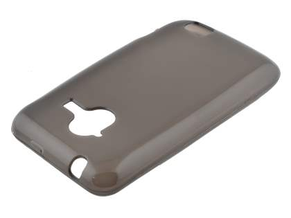 Frosted Colour TPU Gel Case for ZTE Telstra Frontier 4G - Frosted Grey Soft Cover