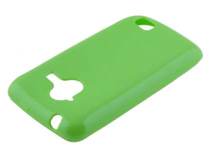 Frosted Colour TPU Gel Case for ZTE Telstra Frontier 4G - Green Soft Cover