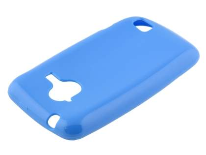 Frosted Colour TPU Gel Case for ZTE Telstra Frontier 4G - Sky Blue Soft Cover