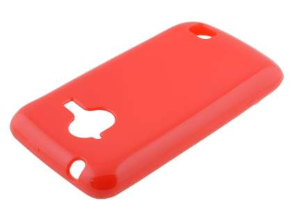 Frosted Colour TPU Gel Case for ZTE Telstra Frontier 4G - Red Soft Cover