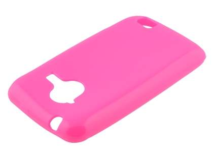 Frosted Colour TPU Gel Case for ZTE Telstra Frontier 4G - Hot Pink Soft Cover