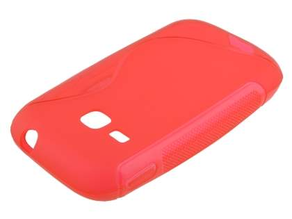 Wave Case for Samsung Galaxy Young S6310 - Scarlet Red Soft Cover