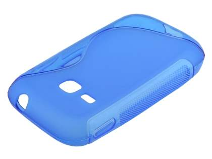Wave Case for Samsung Galaxy Young S6310 - Frosted Blue/Blue Soft Cover