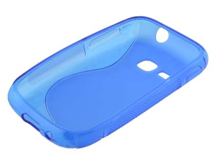 Samsung Galaxy Young S6310 Wave Case - Frosted Blue/Blue