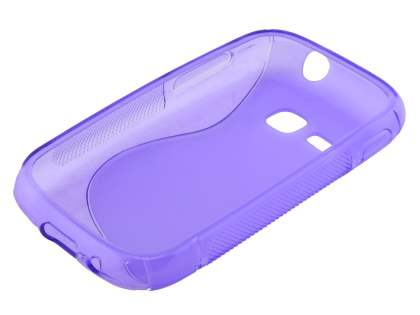 Wave Case for Samsung Galaxy Young S6310 - Frosted Purple/Purple