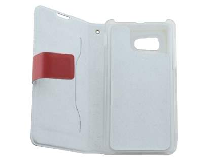 Huawei Ascend Y300 Slim Genuine Leather Portfolio Case - Red