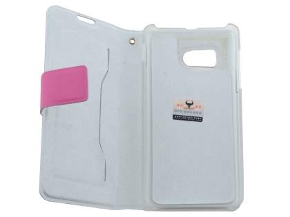 Huawei Ascend Y300 Slim Genuine Leather Portfolio Case - Pink