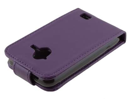 ZTE Telstra Frontier 4G Synthetic Leather Flip Case - Purple