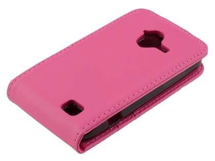 Synthetic Leather Flip Case for ZTE Telstra Frontier 4G - Hot Pink