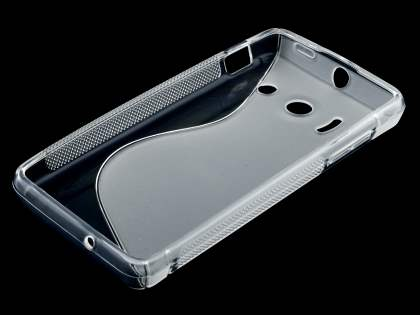 Huawei Ascend Y300 Wave Case - Frosted Clear/Clear