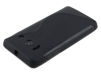 Wave Case for Huawei Ascend Y300 - Frosted Black/Black
