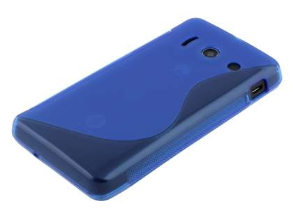 Wave Case for Huawei Ascend Y300 - Frosted Blue/Blue