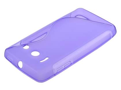 Wave Case for Huawei Ascend Y300 - Frosted Purple/Purple