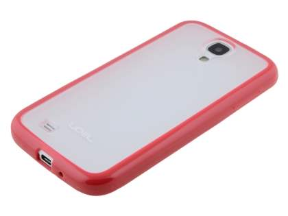 Samsung Galaxy S4 I9500 Dual-Design Case - Red/Frosted Clear