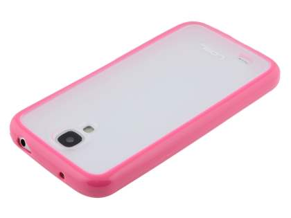 Dual-Design Case for Samsung Galaxy S4 I9500 - Pink/Frosted Clear