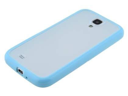Samsung Galaxy S4 I9500 Dual-Design Case - Blue/Frosted Clear