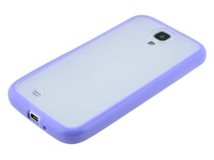 Dual-Design Case for Samsung Galaxy S4 I9500 - Purple/Frosted Clear
